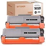 Tóner compatible con Brother TN-2320 TN2320 para Brother MFC-L2700dn MFC-L2700dw HL-L2340dw HL-L2365dw DCP-L2500d HL-L2300d DCP-L2540dn, 2.600 páginas (negro, 2 unidades)