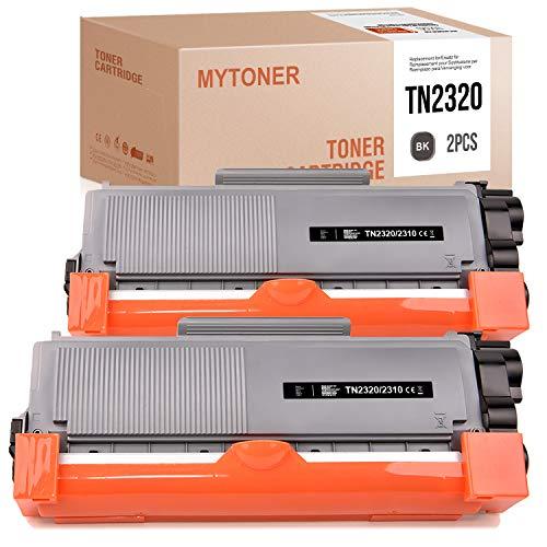 MYTONER Kompatibel Brother TN-2320 TN2320 Toner für Brother HL-L2340DW MFC-L2700DW DCP-L2520DW MFC-L2700DN DCP-L2540DN DCP-L2500D HL-L2300D HL-L2365DW DCP-L2560DW 2,600 Seiten (Schwarz, 2 Pack)