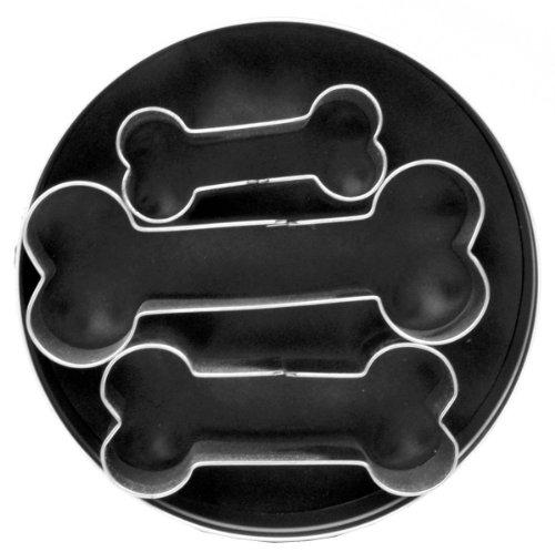 クッキー型3pcセット缶/ドッグボーン [並行輸入品]