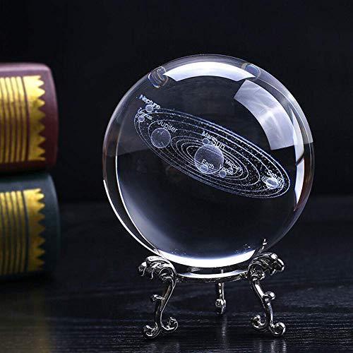 Amusingtao Bola de Cristal Soporte 3D Grabado Arte Manualidades Adornos Oficina Escritorio...
