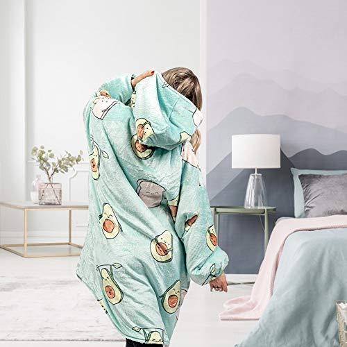 Ysimee Hoodie Decke, Hoodie Blanket, Hoodie Sweatshirt Decke, Tragbare Lamm Samt Lazy Decke, Übergroßer, superweicher, warmer, bequemer Riesen-Hoody, Einheitsgröße Für alle Unisex Herren Damen
