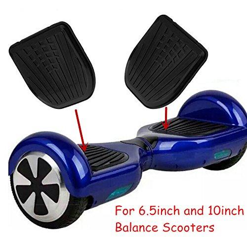 Dragon-five Ersatz Gummi Top Fuß Pads Pedal Abdeckung für 6,5 Zoll und 10 Zoll Self Balancing Electric Scooter Hoverboard