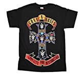 Guns N' Roses Appetite For Destruction Cross Black T-Shirt Black X-Large