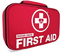 Swiss Safe 2-in-1 First Aid Kit (120 Piece) + Bonus 32-Piece Mini First Aid Kit: Compact, Lightweight for Emergencies at Home, Outdoors, Car, Camping, Workplace, Hiking & Survival by Swiss Safe