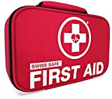 Swiss Safe 2-in-1 First Aid Kit (120 Piece) + Bonus 32-Piece Mini...