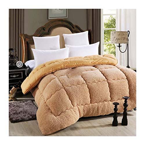 Without Velvet Tröster verdicken warme Decken Kamelwolle Quilt Königin King-Size-Winterdecke (Color : Camel, Size : 150x200cm 2.5kg)