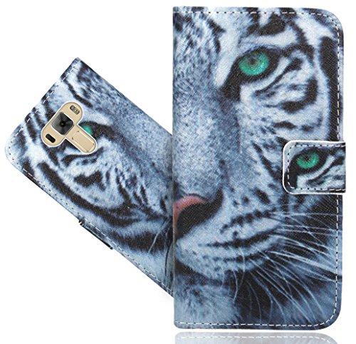 FoneExpert® ASUS Zenfone 3 Laser ZC551KL 5.5 Inch Handy Tasche, Wallet Case Flip Cover Hüllen Etui Hülle Ledertasche Lederhülle Schutzhülle Für ASUS Zenfone 3 Laser ZC551KL 5.5 Inch