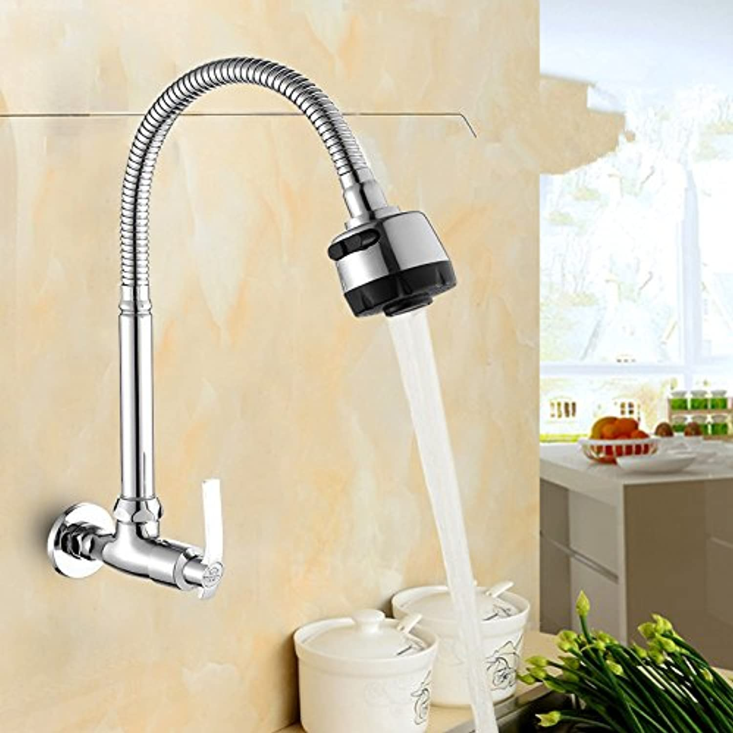 LHbox Basin Mixer Tap Bathroom Sink Faucet Faucet, kitchen, a cold, full of copper, Ceramic cores, dish washing basin, laundry pool, into the wall, the sink basin C