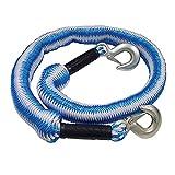 Cinturino da traino elastico, cinturino per impieghi gravosi 1.5-4M, 8818 Lbs (4 tonnellate) Cinghia per argani con corda resistente all'usura con 2 ganci per emergenza auto