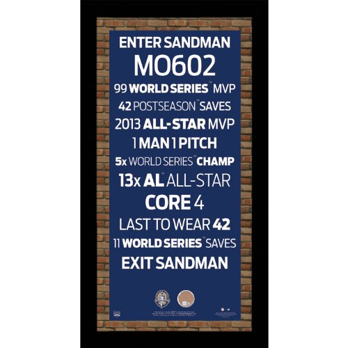 Steiner Sports MLB New York Yankees Mariano Rivera Frame Retirement Subway Sign with Game Used Dirt