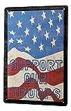 LEotiE SINCE 2004 Blechschild Wandschild 30x40 cm Vintage Retro Metallschild Sprüche Support Our Troops USA Flagge