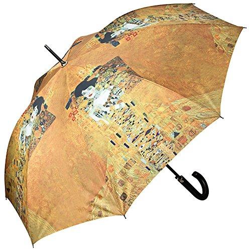 VON LILIENFELD® Ombrello Pioggia Lungo Classico Automatico Donna Arte Gustav Klimt: Adele