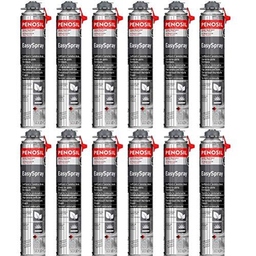 Espuma expansiva de poliuretano de 700 ml – Lote de 12 bombas – interior y exterior – Excelente aislamiento acústico – Única en el mercado – Aplicación pistola
