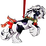 Gypsy Vanner Horse Gifts for Girls, Gypsy Horse Christmas Ornaments, Equestrian Gifts for Women