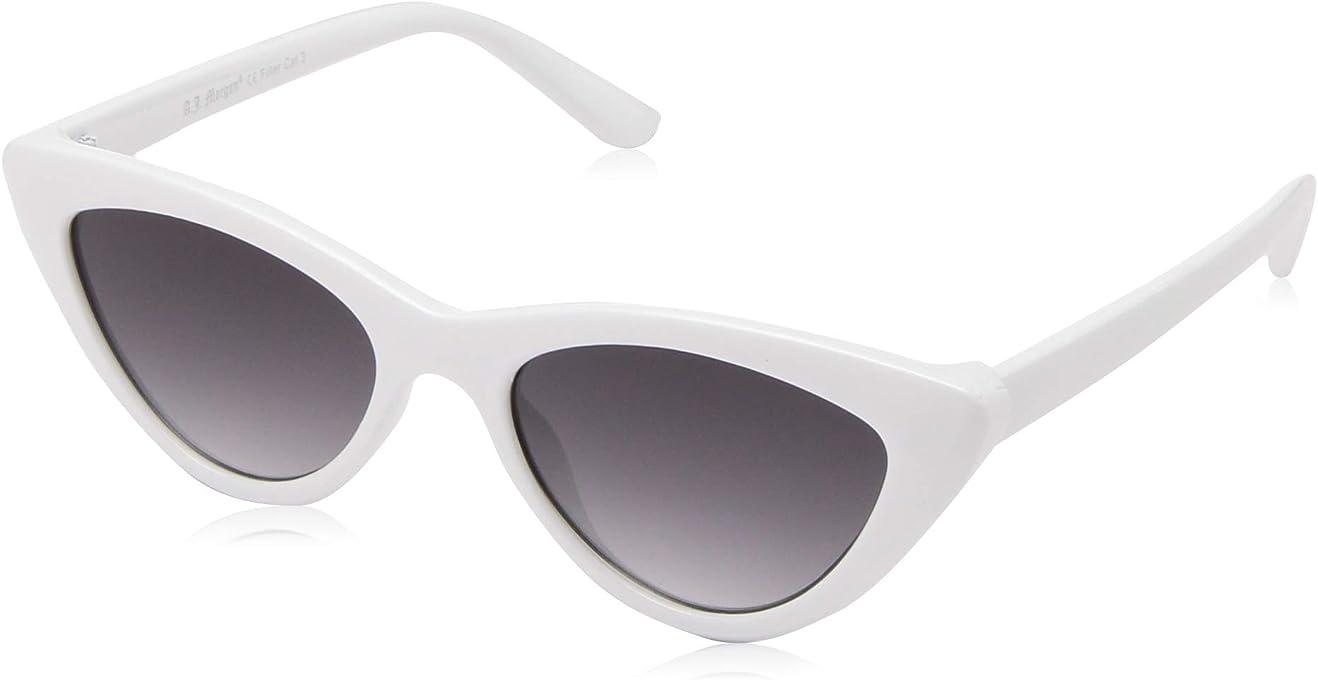 A.J. Morgan Sunglasses Women's Naughty Cateye Sunglasses, White, 51 mm