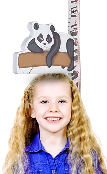 MiGAOTE 3D Panda Height Growth Chart Ruler Magnetic Measurement Removable Baby Height Chart Ruler Children S Room Kindergarten Height Ruler