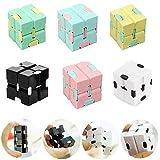 Sensory Infinity Cube,Infinity Fidget Cube,Stress Ansia Giocattolo Per Alleviare La Pressione,Giocattolo Antistress Giochi Cubo,Mind Puzzle Fidget Cube Per Bambini E Adulti (3 PCS Casuale)
