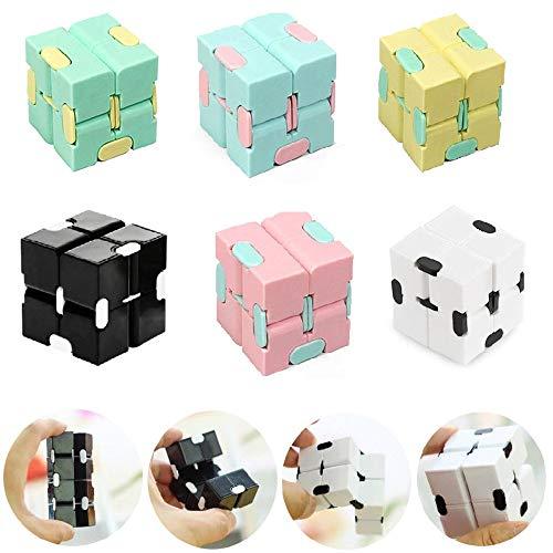 Cubo Sensorial Infinito,Sensory Infinity Cube,Aliviar El Estrés,La Ansiedad,El Autismo,Sensory Infinity Cube Stress Fidget Toys,Adecuado Para Niños,Adultos,Juguetes Interesantes. (6 PCS Aleatorio)
