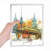 東京タワーのライトレールの列車 硬質プラスチックルーズリーフノートノート
