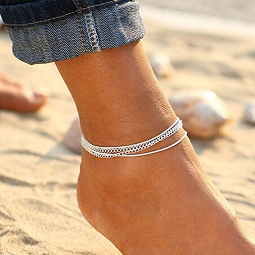 LnLyin National Wind Retro Mehrschichtige Armband Fußkette