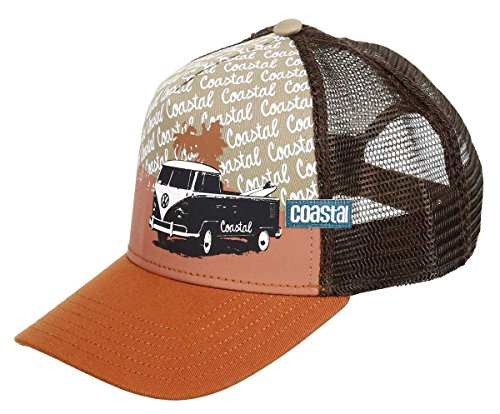 COASTAL - Surfbully (dark orange/brown) - High Fitted Trucker Cap