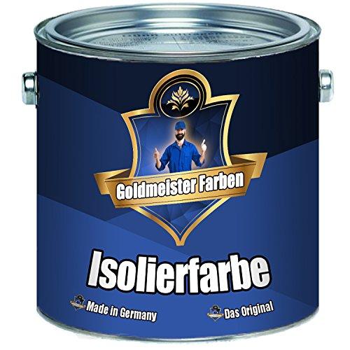 Goldmeister kleuren anti-schimmelverf in wit isolatieverf, bijzonder geurarm, nicotineblokkering op basis van acrylaathars 1 L wit