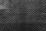 pelle Vera esotica Pregiata di Pitone Nera Matt Morbida a Metro - per arredo DIVANI Scarpe Borse Accessori, SEDIE Tessuti Tessuto