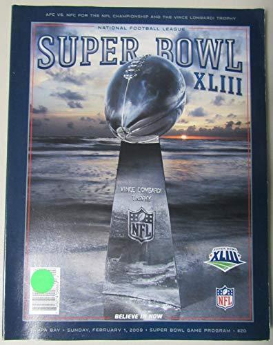 Super Bowl XLIII Official Program 2009 Pittsburgh vs. Cardinals 153417
