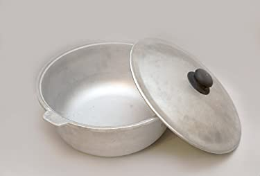 EASTDREAM uzbek original aluminium casting cookware (kazan) 6 LITERS (1.5 gal) For making pilaf\palov\plov.Brand Eastdream. Uzbekistan.
