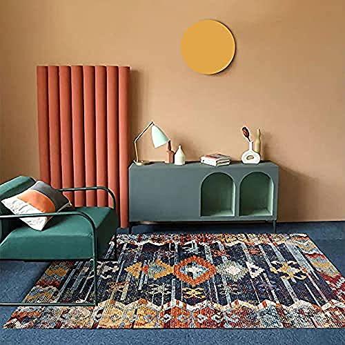 Alfombras de Apartamentos, Alfombra de la Sala de Juegos, Antideslizantes, Sala de Estar o Debajo de la Mesa de café, Fabulosa opción para Cada habitación-Azul Vintage_140x200cm