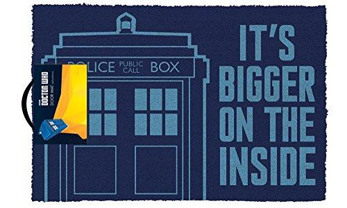 empireposter Doctor Who - Tardis - Fußmatte Türmatte Größe: 60 x 40 cm, Material Kokosfaser