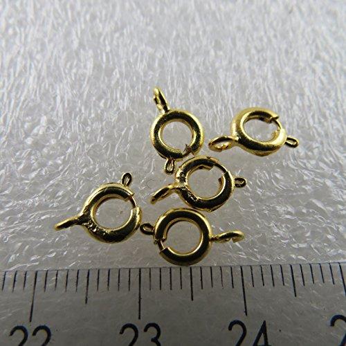 Kettingsluiting voor modelbouw als haak of sieraad kettingen sluiting/grootte = 6 mm | kleur = goud