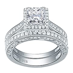 No stone fall out.warranty full refund within 60 days by missing stone! 100% Solid Sterling Silver/ 925 stamp,nickel free. Newshe Jewellery High Quality AAA Cubic Zirconia Engagement Wedding Ring Set For Women Comes with a FREE Luxury Gift Box! Main ...