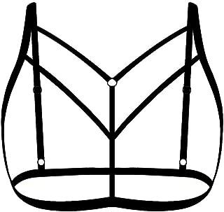 iNoDoZ Women Fashion Ladies Lingerie Halter Elastic Cage Fashion Strappy Bra Bustier Lovers Underwear
