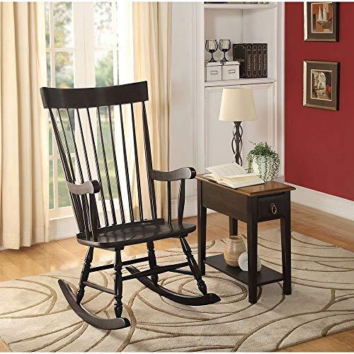 Zebery Acme Arlo Rocking Chair in Black 59297