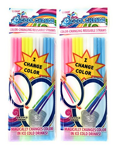 Straws That Change Color in Cold Drinks