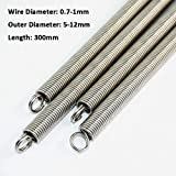 Resorte de extensión 1pcs 300mm de doble largo gancho de expansión Accesorios de hardware tensión del muelle 304 de alambre inoxidable Dia 5-12mm 0.7-1mm Diámetro externo (Size : 0.8 x 6 x 300mm)