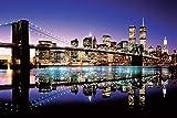 New York Brooklyn Bridge (Colour) - 61 x 91 cm Póster