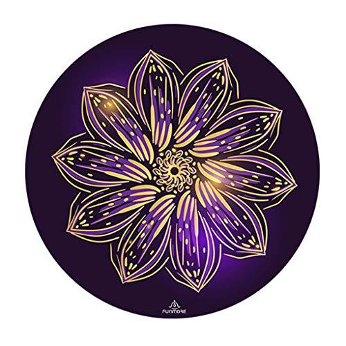 Résistant à l'humidité Yoga en Caoutchouc Naturel Ronde Tapis Anti-dérapant Yoga Fitness Professionnel Couverture méditation méditation Pad méditation Pad Lumière (Color : Purple)