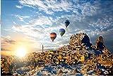 Muy difícil de 1500 piezas de rompecabezas de madera juguete divertido regalo anime paisaje gira en globo aerostático