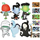 24 Pieces Make Your Own Jack-O-Lantern, Mummy, Witch, Monster Hunt Ghost, Vampire Craft Stickers for Halloween...
