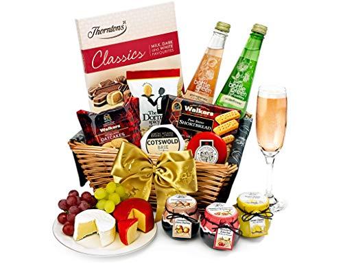 Trafalgar Hamper with Alcohol-Free Pressé - Hand Wrapped Gourmet Food Basket, in Gift Hamper Box