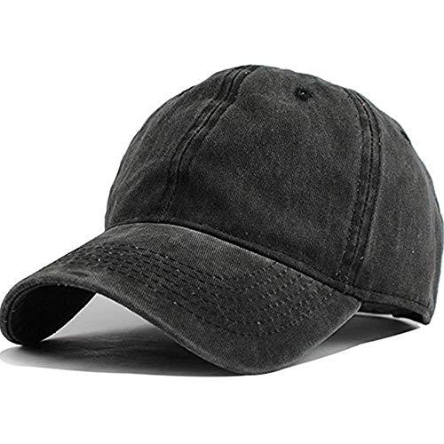 Wennmole Unisex Baseballkappe Outdoor Baseball Cap Verstellbar Erwachsenen Mütze Sport Cool Mode Baseballmütze für Damen Herren (Schwarz)