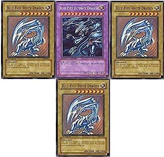 Yu-Gi-Oh!! Blue Eyes Ultimate Dragon!! 3 Blue Eyes White Dragon's! All Rare 20 Yugioh Card Lot!!