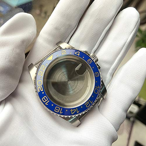 zhangxia Caja de Reloj para Rolex 2813/8215/2836/3804/8200 GMT Funda de Reloj para Rolex 2813/8215/2836/3804/8200, Color: GMT Anillo de cerámica Negro y Azul