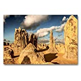 Calvendo Premium Textil-Leinwand 90 cm x 60 cm quer, Nambung National Park   Wandbild, Bild auf Keilrahmen, Fertigbild auf echter Leinwand, Leinwanddruck: Australien - Best of Down Orte Orte