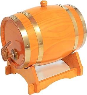Baril en Bois de Whiskey, Distributeur D'eau de Baril de Vin Du Ménage 1.5L pour Stocker Le Brandy de Vin (Color : Yellow,...
