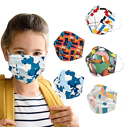 Sheal Kids Disposable Face Masks 100PCS 5Cartoons Kids Mask