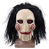 DAPAIZI Peluca de máscara de terror de motosierra, disfraz de carnaval de Halloween, máscaras faciales para adultos