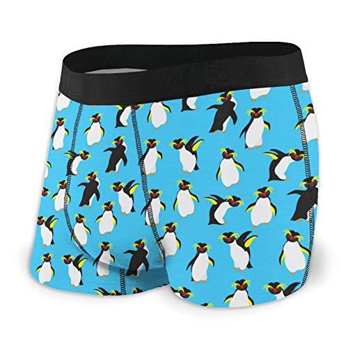 Nuwcense Herren-Boxershorts, eng anliegend, Pinguin-Unterhose, schnell trocknende Unterwäsche Gr. XXL, Schwarz